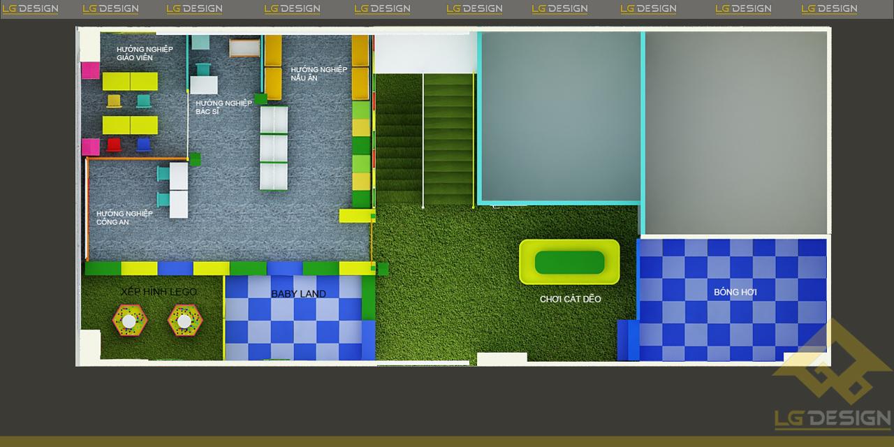 Hình ảnh 3D trường mầm non Hoa Trạng Nguyên