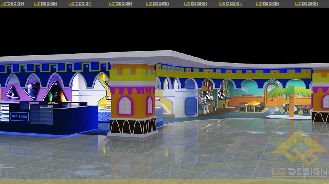 Hình ảnh thiết kế khu vui chơi Gamezone Nha Trang Center