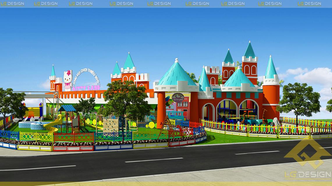 Hình ảnh thiết kế 3D khu vui chơi Kiên Giang