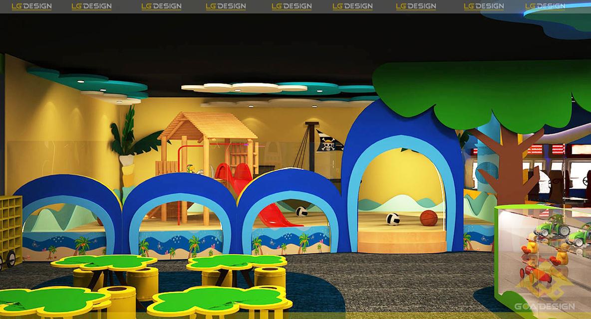 Hình ảnh thiết kế khu vui chơi game zone Vũng Tàu