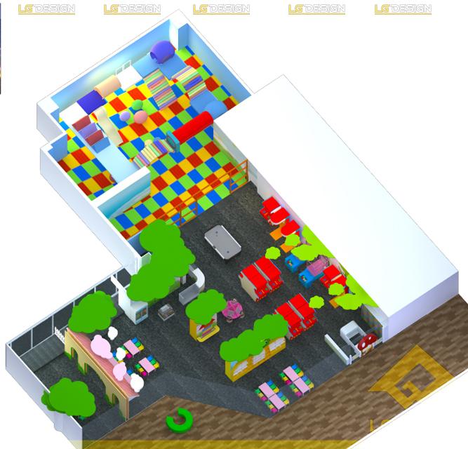 Hình ảnh thiết kế khu vui chơi TiNiWorld IPH Hà Nội