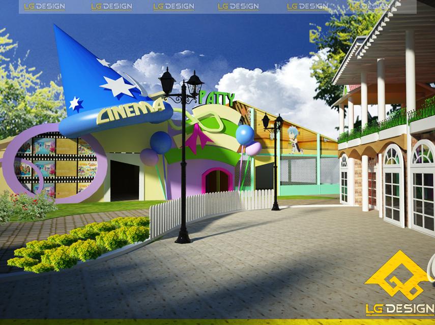 Hình ảnh thiết kế khu vui chơi chị Hương Quận 12