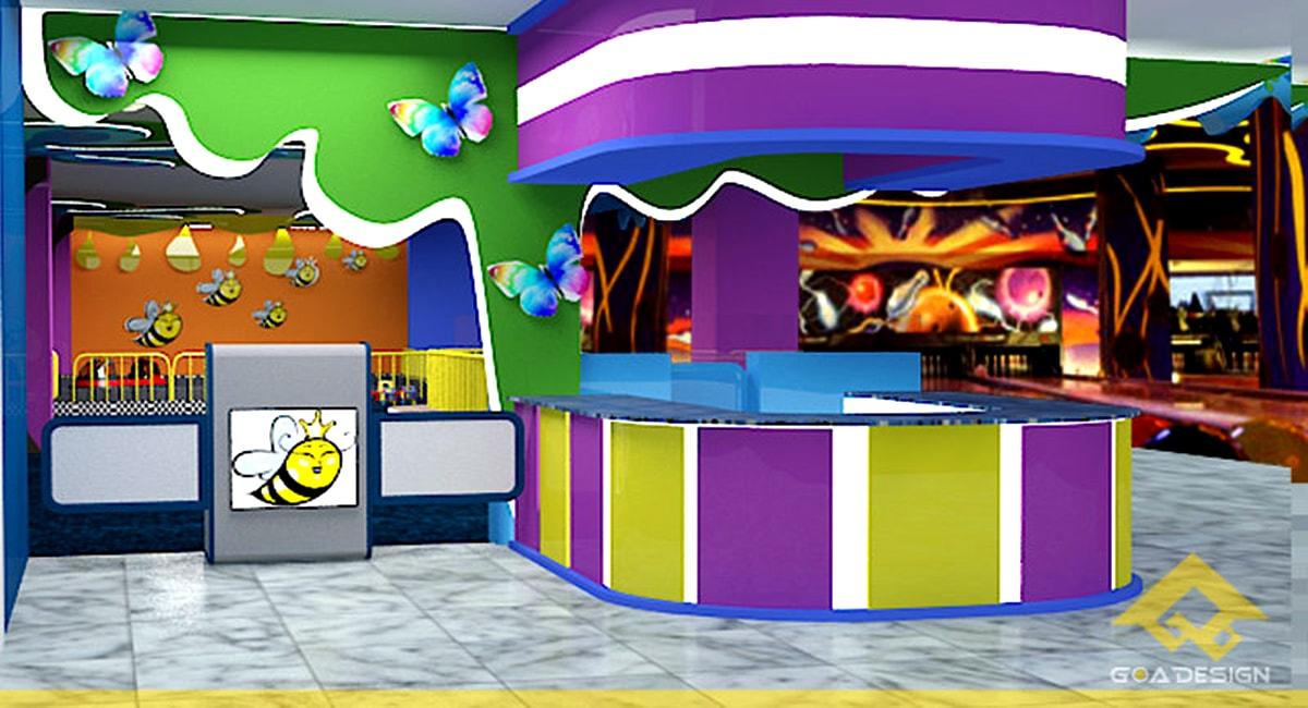 Ý tưởng thiết kế khu vui chơi trong nhà khiến các bé thích thú
